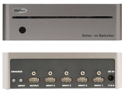 Gefen TV Switcher - front and back