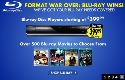 Best Buy Blu ray banner