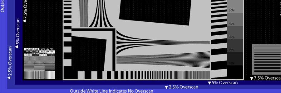 overscan pattern from AVS HD 709 test disc