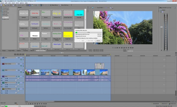 Rendering in Sony Vegas
