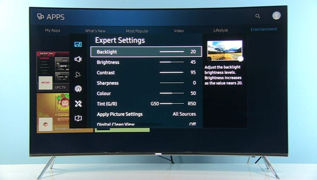 samsung-49ks7502-settings-menu